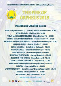 THE FIRE OF ORPHEUS 2018